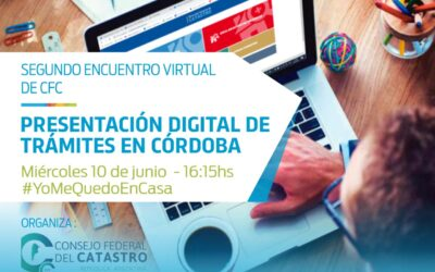 Encuentro virtual CFC- FADA. Presentación digital de trabajos de agrimensura en Córdoba